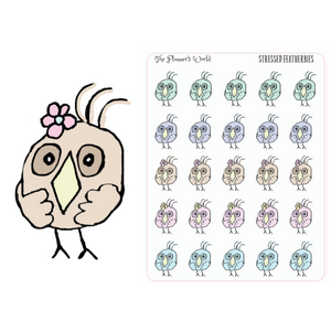 Stressed Out Featherby Doodle sticker - The Planner's World