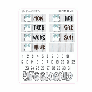 Pumpkins for Sale  Deluxe Weekly Planner Stickers - Deco Boxes