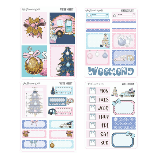 Winter Journey Micro Kit Planner Stickers