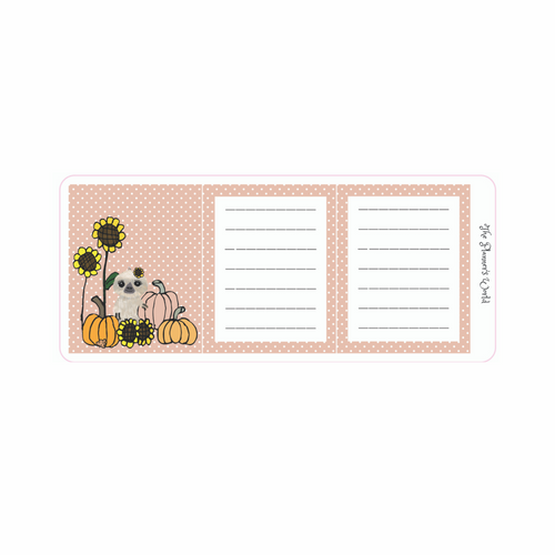 Autumn Moxie Mini Planner Hidden Notes Planner Stickers
