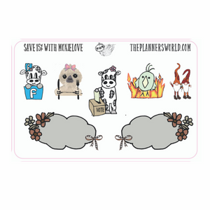 Vote Moobell Sticker Sampler by The Planner's World