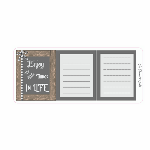 Farmhouse Chalkboard Mini Planner Hidden Notes Planner Sticker