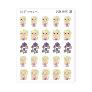 Spring Bouquet Planner Girl Planner Stickers - The Planner's World