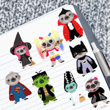kawaii sloth character halloween costume Die Cuts