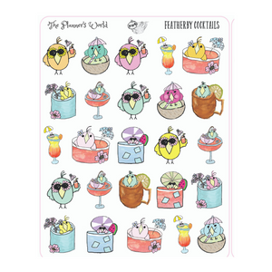 Featherby Cocktail Drinks Planner Stickers - The Planner's World