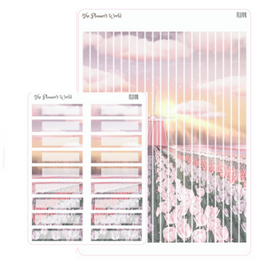 Fleur Sunset on the Flower Farm - Weekly Planner Stickers