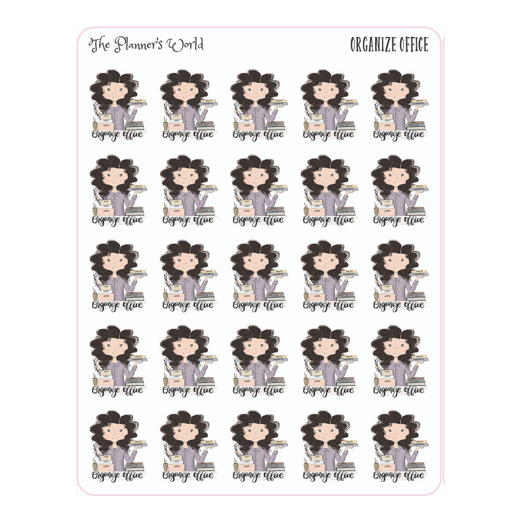 Organize Office Planner Stickers - The Planner's World