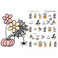 Tis the Season to be Creepy Planner Stickers