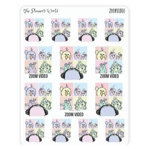 Video Chat Featherby planner Stickers - The Planner's World