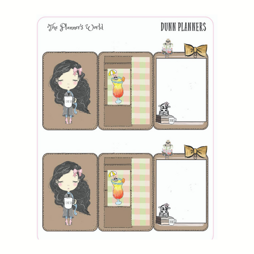 Dunn Planning Mini Planner Hidden Notes Planner Stickers