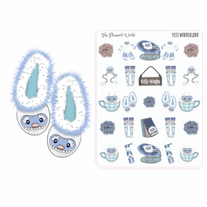 Yeti Wonderland planner stickers