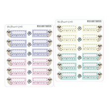 Peekaboo Moxie the sloth Habit Tracker Planner Stickers - The Planner's World