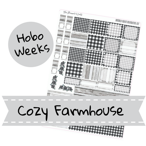 Cozy Farmhouse Hobonichi Weeks Planner Stickers