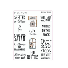 Sarcastic Sayings Script Adulting Planner stickers from April 2020 - The Planner's World