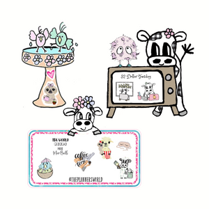 Character Sticker Samplers by The Planner's World