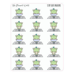 Wash your hands dragon planner stickers - The Planner's World