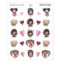 Kawaii Puppy Love valentines planner stickers