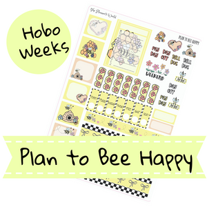 Hobonichi Weekly Planner Sticker Kit - Plan to Bee Happy - The Planner's World