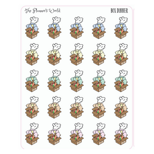 Box Meal Featherby planner Stickers - The Planner's World