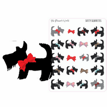 Dog mom planner stickers -scotty silhouette planner Stickers