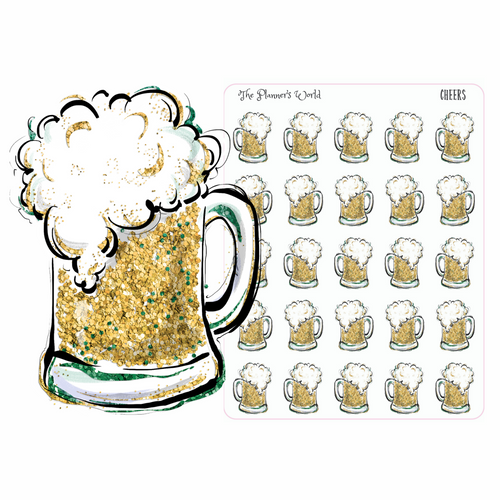 craft beer planner stickers