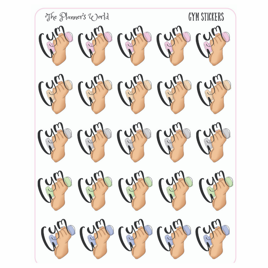 Gym Planner Stickers