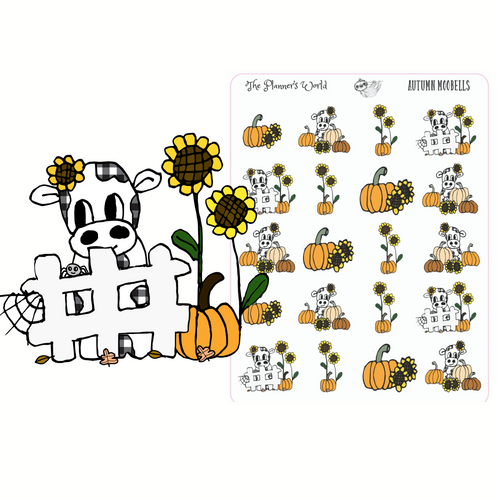 Autumn Moobells planner stickers