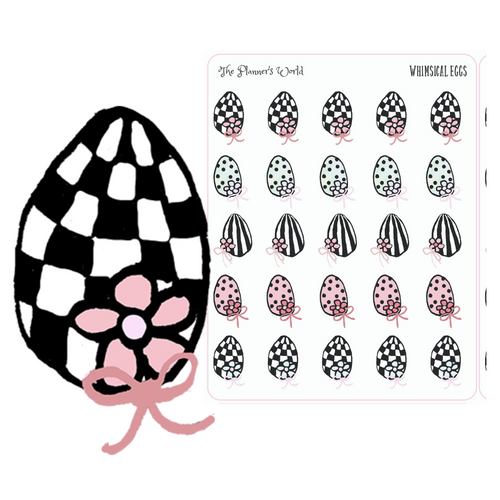 Cute Whimsical Easter Egg Planner Stickers - The Planner's World