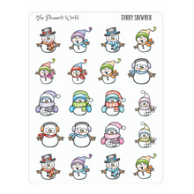 Funny Snowmen Winter Planner Stickers
