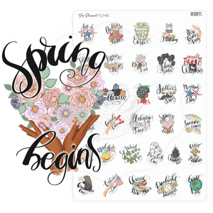 Annual Holiday Planner Stickers - Assorted Holiday Stickers