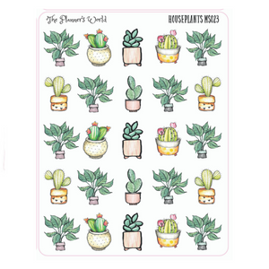 Houseplant Planner Stickers