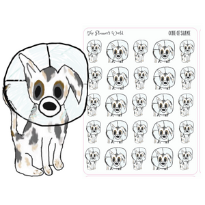 Cone of Shame planner stickers - Dog planner stickers - dog mom sticker - The Planner's World