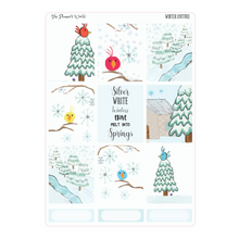 Silver White Winters weekly vertical Sticker Kit - winter kit - The Planner's World