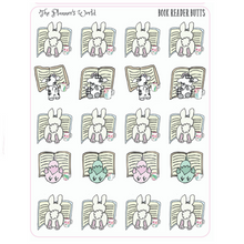 Reading planner stickers - Book Reader Butts