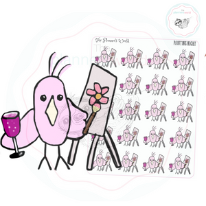Featherby Wine and Paint Planner Stickers - The Planner's World