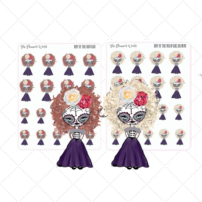 Day of the Dead Girl stickers - The Planner's World