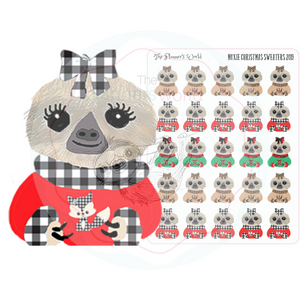 Christmas Sweater Moxie - planner stickers - winter - christmas stickers - christmas - sloth stickers - sloth - ugly sweater stickers - The Planner's World