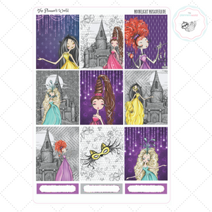Planner sticker kit - Moonlight Masquerade Weekly Vertical Sticker Kit - The Planner's World