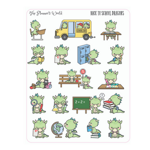dragon sticker - Back to School Dragon stickers - dragon planner stickers - The Planner's World