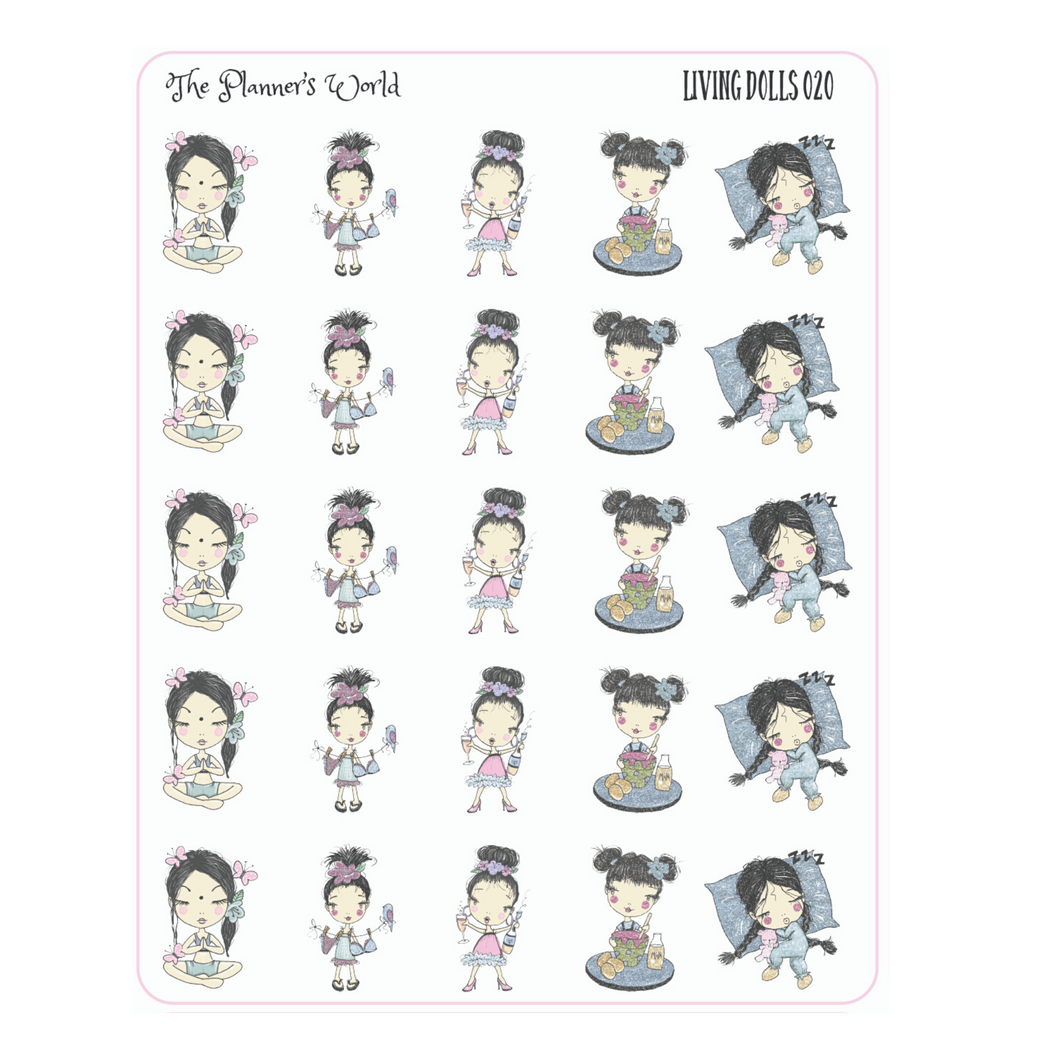 Living Dolls planner girl sticker - The Planner's World