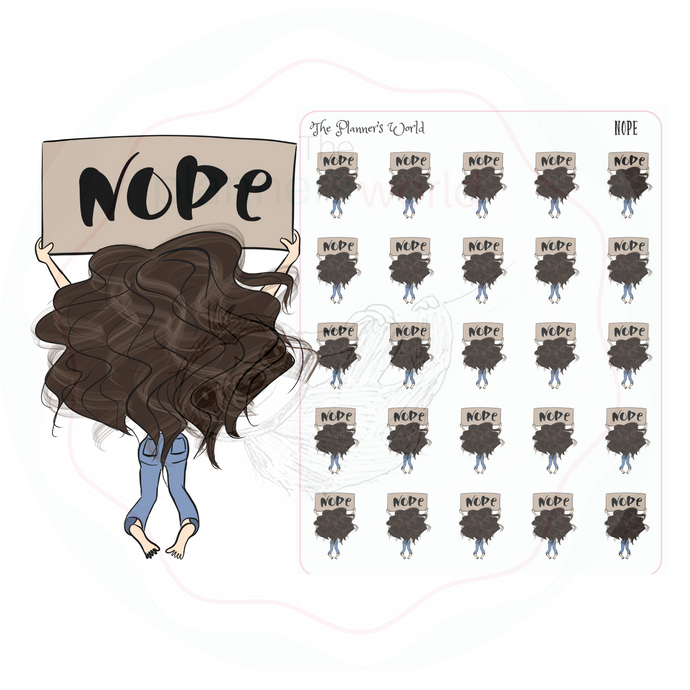 Nope planner stickers - The Planner's World