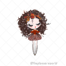 Autumn Fashion Girl Planner Die Cut Sticker - The Planner's World