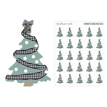 Farmhouse Christmas Tree stickers -  christmas tree - christmas planner stickers - christmas stickers - The Planner's World
