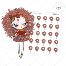 Autumn Latte Planner Girl Stickers - The Planner's World