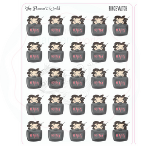 Binge Watch planner stickers - Planner Girl - The Planner's World