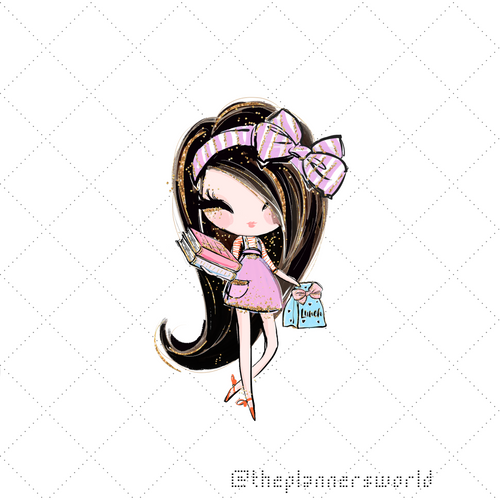 Back to School Stickers - School Daze School Girl Die Cut Sticker - The Planner's World
