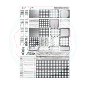 Hobonichi Week weekly kit / Buffalo Check Planner Sticker kit - The Planner's World