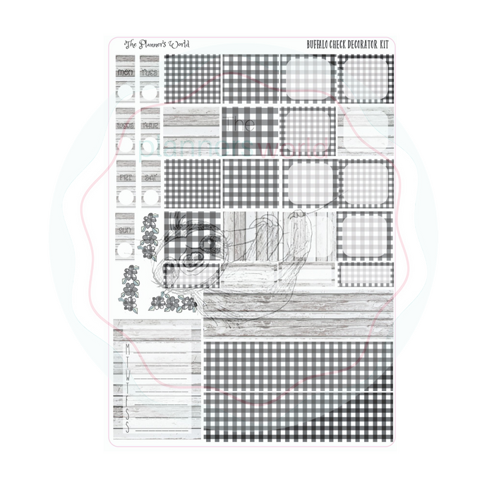 Hobonichi Weeks weekly kit / Buffalo Check Sticker kit - The Planner's World