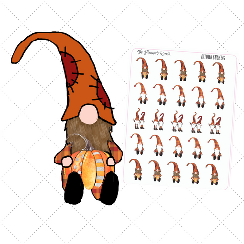 Gnome Stickers - Autumn Gnome Planner Stickers - The Planner's World