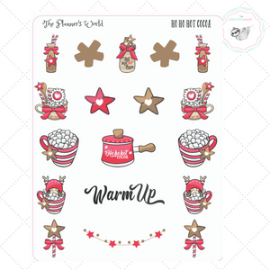 Ho Ho Hot Cocoa Planner Stickers - The Planner's World
